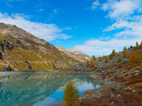 Alps, Dam, Moiry, Lake, Switzerland, Valais, Val
