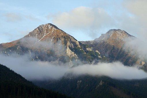 Mountains, Clouds, The Sky, Slovakia, Tatry