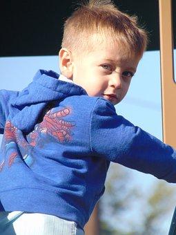 Little Boy, Playing, Park, Little, Boy, Child, Play