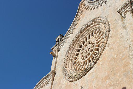 Ostuni, Cathedral, Rose Window, Church, Monument