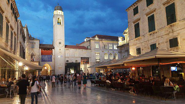 Dubrovnik, Stradun, Croatia, City, Architecture