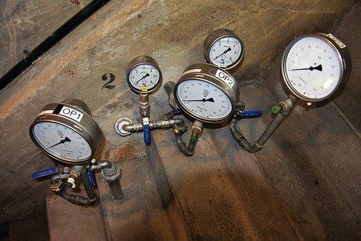 Pressure Gauge, Technology, Pointer, Pressure, Ad, Dam