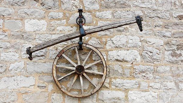 Wagon Wheel, Wheel, Wooden Wheel, Cart, Wall