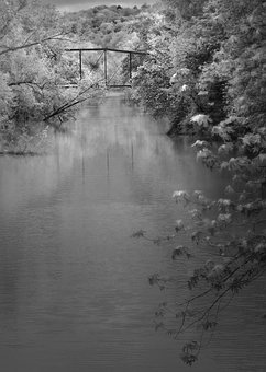 Black And White, Abandoned Bridge, Bridge, White, Black