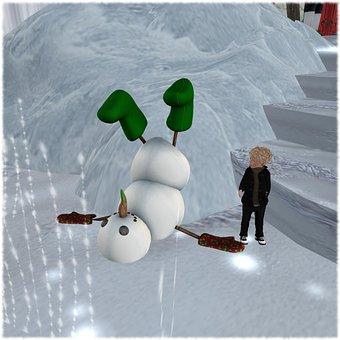 Snowman, Winter, Christmas, Holiday, Xmas, Season, Snow
