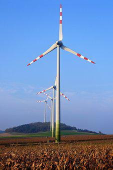 Blue Sky, Pinwheel, Rotor Blades, Rotor, Current, Eco