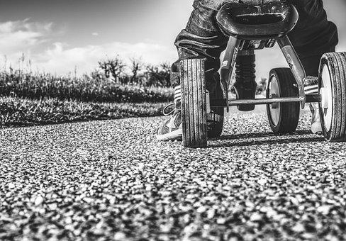 Small Child, Bike, Impeller, Child, Play, Fun