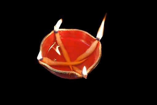 Earthen Lamp, Diwali, Lamp, Light, Black Lamp