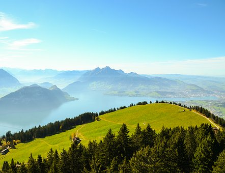 Mountains, Foresight, Alpine, Switzerland, Rigi