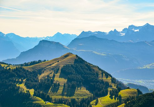 Alpine, Foresight, Mountains, Nature, Rigi, Autumn