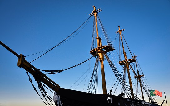 Ship, Mast, Masts, Sailing Vessel, Rigging, Sail, Port