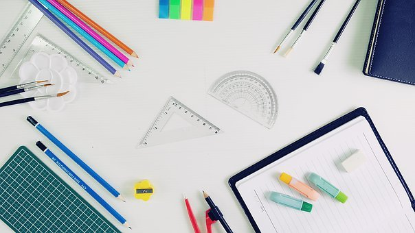 Stationery, Apointment Book, Pencil, Ruler, Sharpener