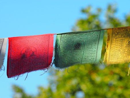 Buddhist, Flags, Prayers, Tibetans Subject-garlands