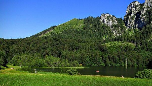 Laudachsee, Traunstein, Salzkammergut, Gmunden, Austria