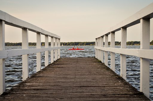 Lake, Canoeing, Water, Nature, Landscape, Paddler