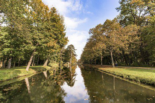 Channel, Trees, Nature, Landscape, Water, River