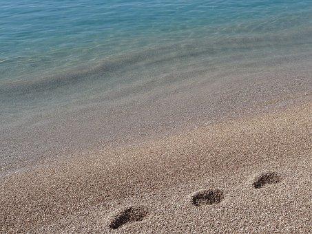 Sand, Sea, Turquoise, Monaco, Wet Sand, Water, Foot