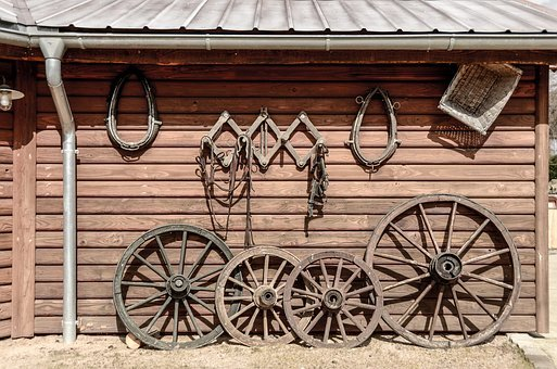 Wood, Wagon Wheel, Wheel, Wooden Wheel, Old, Spokes