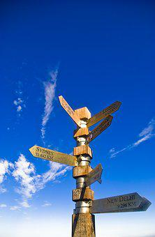 Signage, Direction, Sky, Arrow, Sign, Symbol