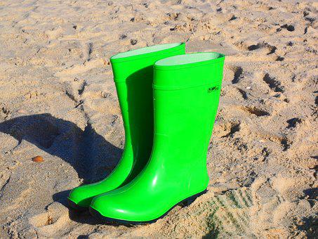 Rubber Boots, Boots, Green, Light Green, Bilious Green