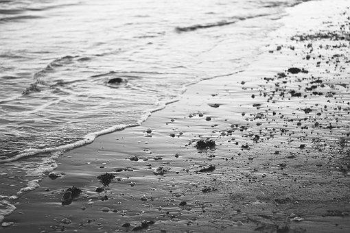 Beach, Water, Sea, Rating, Holiday, Black And White