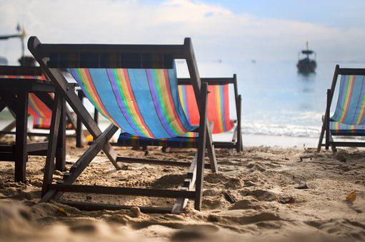 Chair, Beach, Chill, Chilling, Summer, Boat, Water