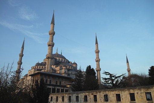 Sultanahmet, Cami, Minaret, Istanbul, Turkey