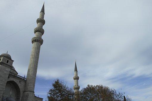 Cami, Minaret, Istanbul, Turkey, Architecture, Religion