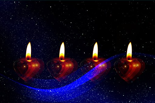 Candle, Advent, Third, Christmas Eve, Celebration