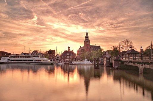 Skyline, Leer Ostfriesland, East Frisia, Colorful