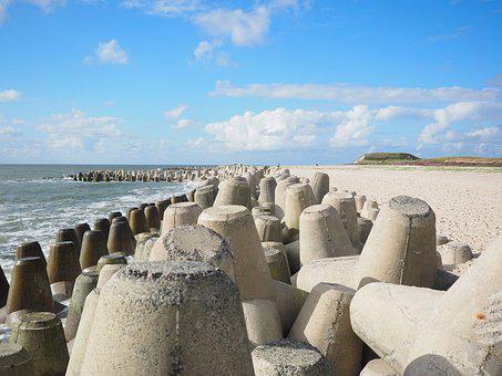 The Beach Fixing, Tetrapods, Concrete, Hard