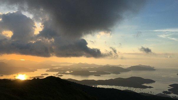 Hong Kong, West Buffalo Hill, Dawn, Sai Kung Sea
