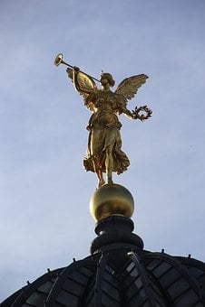 Dresden, Germany, Statue, Angel
