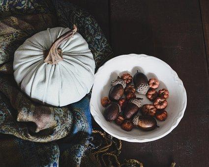 Fabric Pumpkin, From Above, Soft, Texture