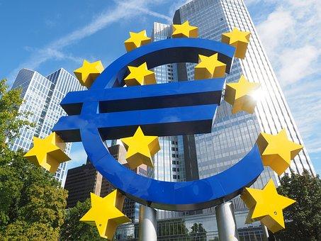 Euro-sculpture, Euro Sign, Artwork, Frankfurt