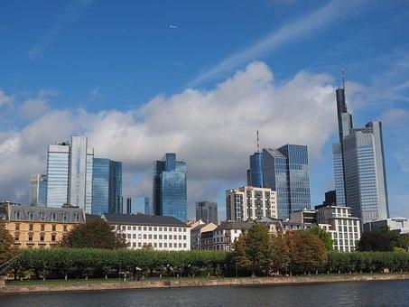 Frankfurt Am Main Germany, Hochaeuser, Skyscraper