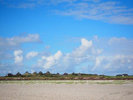 Hörnum, Beach, Sylt, Country Houses, Holiday