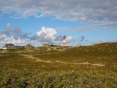 Hörnum, Lighthouse, Beach, Sylt, Country Houses