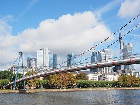 Holbeinsteg, Pedestrian Bridge, Frankfurt, Main