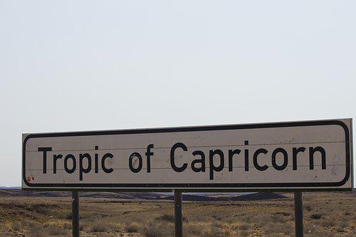 Tropic Of Cancer, Namibia, Tropic Of Capricorn