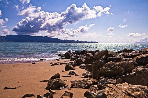 Beach, Pallaranda Beach, Nude Beach Area, Rocky Outcrop