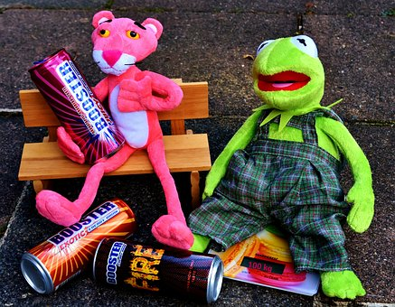 Kermit, The Pink Panther, Energy Drinks, Plush Toys