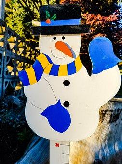 Snowman, Display, Winter, Decoration, Design, Outdoor