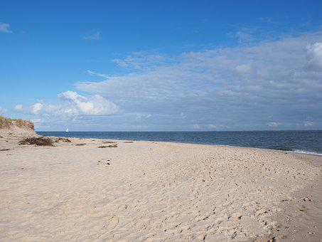 Sylt, Southern Tip, Beach, Water, Sea, Vacations