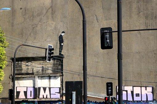 Graffiti, Valdivia, Mural, Mime, Street, Theatre, City