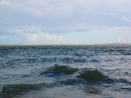 Water, Wave, Flow, Dangerous, Sylt, Southern Tip, Beach