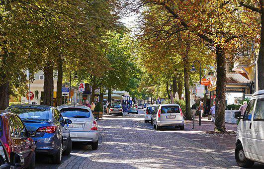 Bad Harzburg, Main Road, Traffic-calmed, Shops, Autumn
