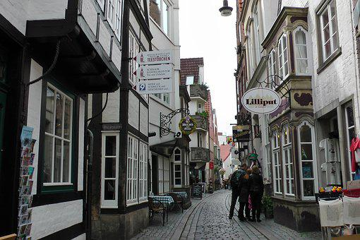 Bremen City Centre, Schnoor Quarter, Alley, Narrow Road