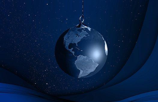 Globe, Continents, Christmas Ornament, Christmas