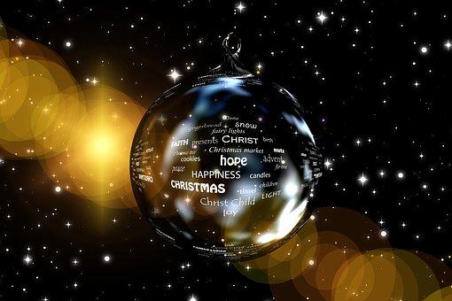 Christmas, Star, Ball, Christmas Ornament, Words